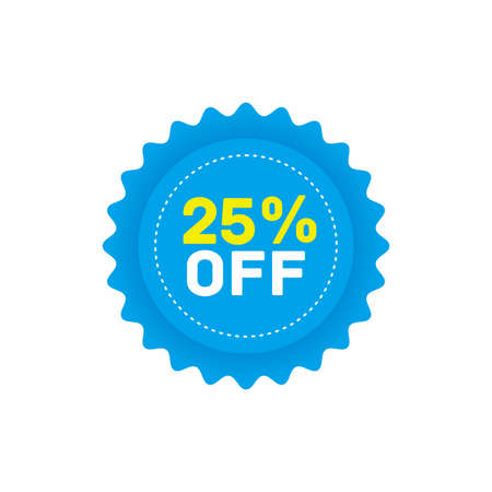 25% off big sale badge sticker, banner vector eps