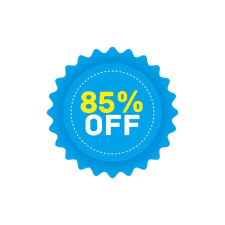85% off big sale badge sticker, banner vector eps