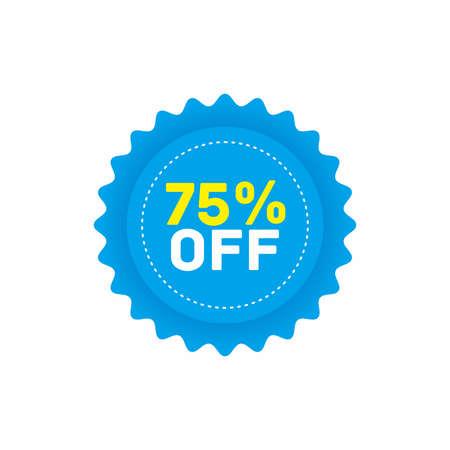 75% off big sale badge sticker, banner vector eps Vettoriali