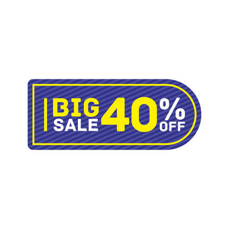 40% off big sale badge sticker, banner vector