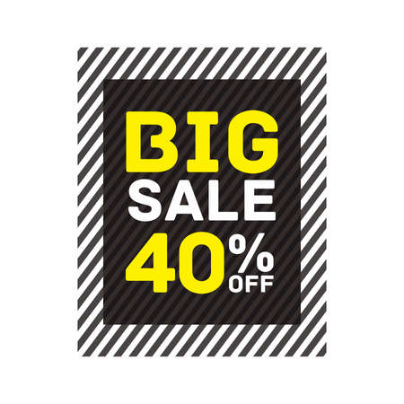 40% off big sale badge sticker, banner vector eps