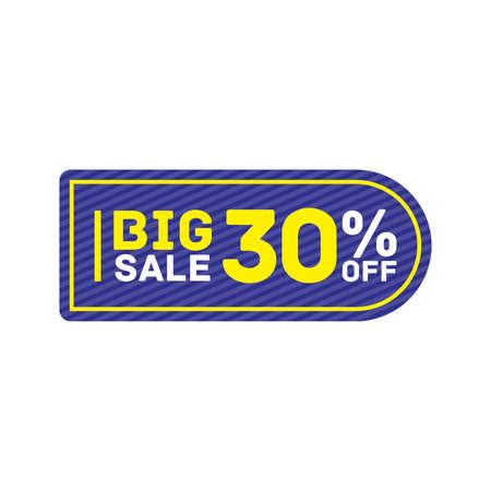 30% off big sale badge sticker, banner vector