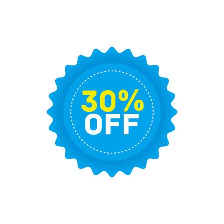 30% off big sale badge sticker, banner vector eps