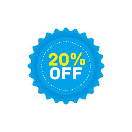 20% off big sale badge sticker, banner vector eps