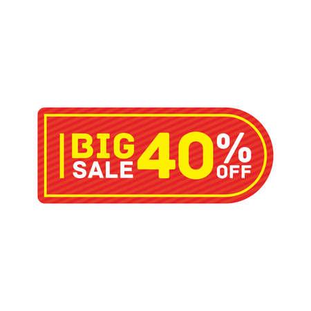 40% off big sale badge sticker