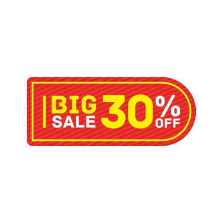 30% off big sale badge sticker