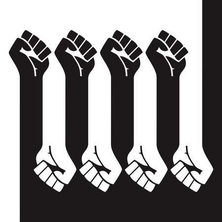 Black Lives Matter hand symbol