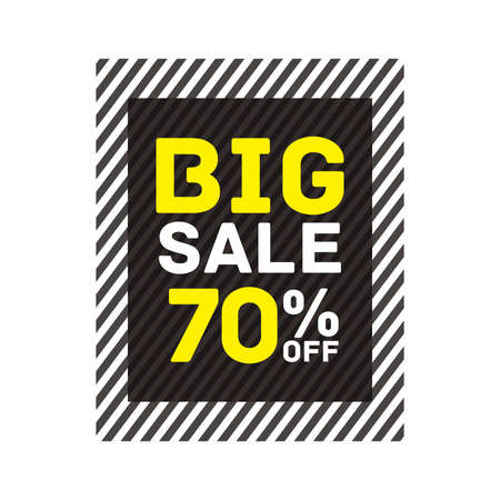 70% off big sale badge sticker, banner vector eps Vettoriali