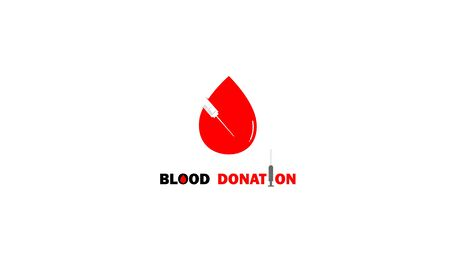 World Blood Donor Day vector concept of blood with negative spaces forms an injection. 14 june. Hemophilia day poster. Blood donation logo