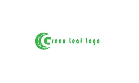 Green Leaf eco organic  design vector template Ilustração