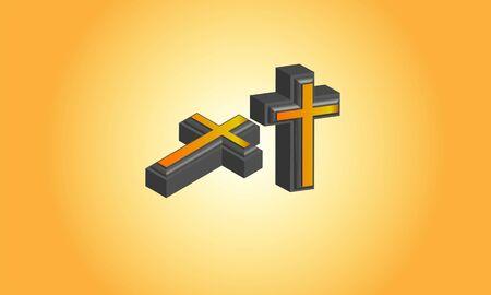 3d Christian Cross logo, Stock Photos & Vectors Logo