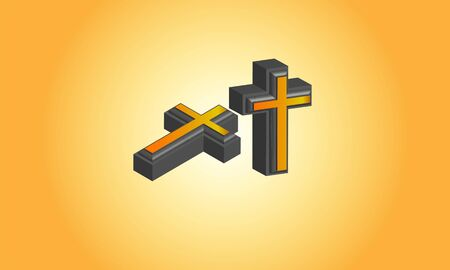 3d Christian Cross logo, Stock Photos & Vectors