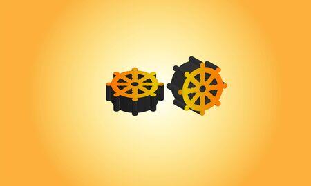 3d Buddhist symbol logo, Stock Photos & Vectors