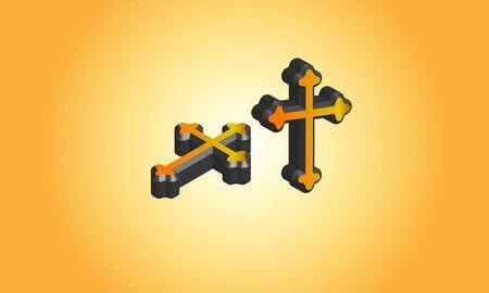 3d Catholic symbol logo, Stock Photos & Vectors