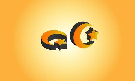 3d islam symbol logo, Stock Photos & Vectors