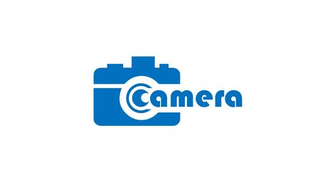 camera art vector logos and icons. Stock Illustratie