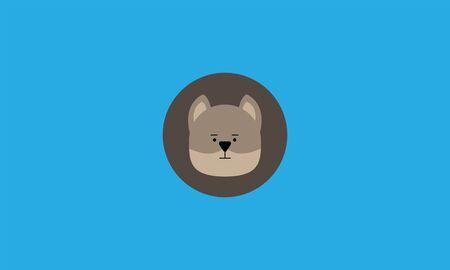 dog cute head icon vector illustration. 向量圖像