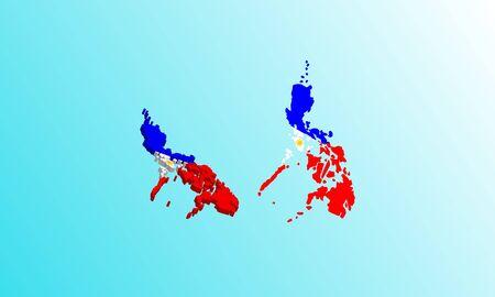 philippine Map 3D icon vector illustration