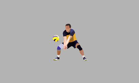 libero volleyball polygonal vector. Polygonal abstract concept