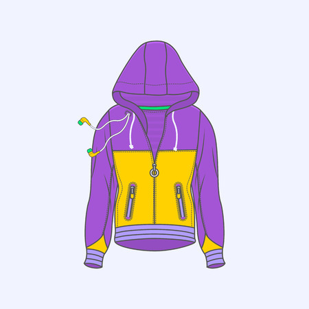 Hoodie for men symbol simple line icon on background Illustration