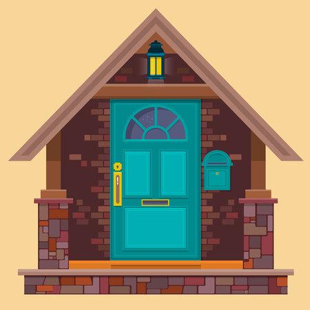 Cartoon house illustration.