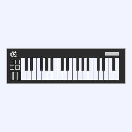 Klaviertasten oder elektronische Tastaturtasten sind ein Symbol für Musik-Apps und -Websites. Vektor-Illustration. Standard-Bild - 85140266