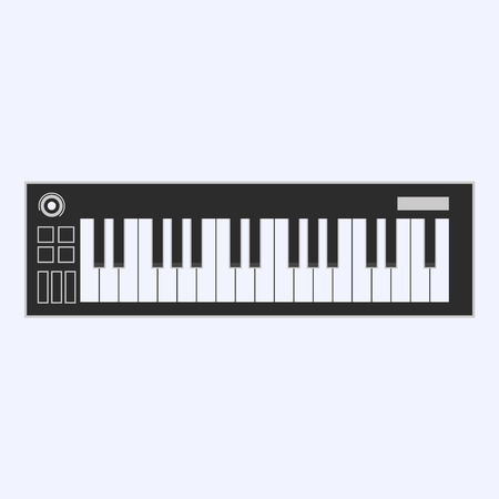 Piano or electronic keyboard keys line art icon for music apps and websites. Vector illustration.