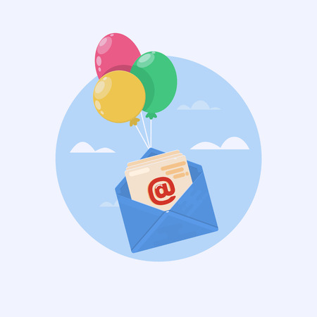 correspondence: Open mail icon. One of set web icons. Vector illustration.