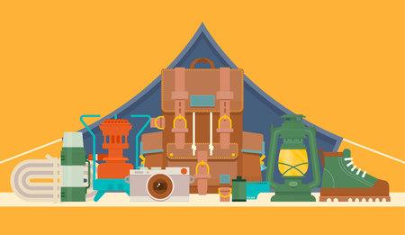 primus: Tourists equipment and travel accessories set