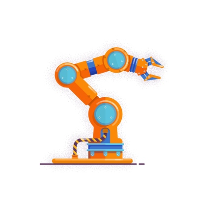 Mechanical hand Vector illustration