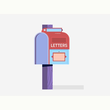 Mailbox Flat Icon.E-mail marketing. Vector illustration