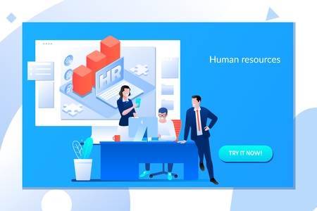 Business HR concept. Human resources manager hiring employee or workers for job.