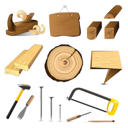 hardwoods: tree wood icon