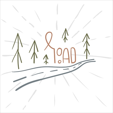 Hand drawn camping icons set. Camping icons to use for web and mobile UI.