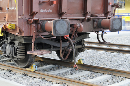 cushioning: detail Suspension wheels freight wagon