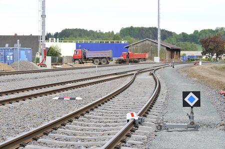 blocking: safety the blocking rail Stock Photo
