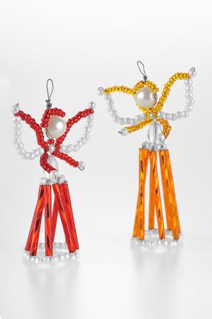 ange: Hand beads Christmas angels