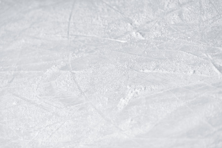 ice arena: Skate marks on the surface of ice rink