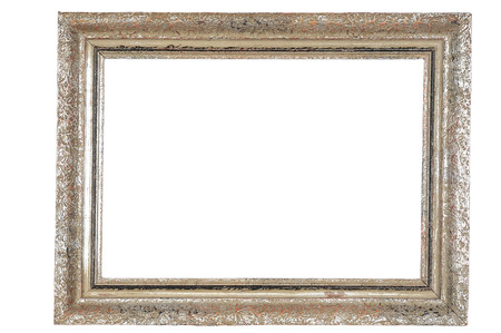 Old empty picture frame