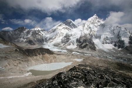 mountain pass: Mount Everest viewed from Kala Pattar