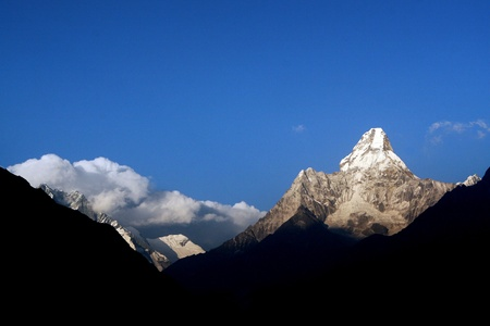Ama Dablam - a mountain in Mount Everest region, Himalaya photo