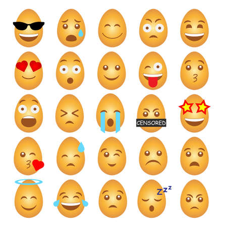 A set of emoticons in the form of Easter eggs.