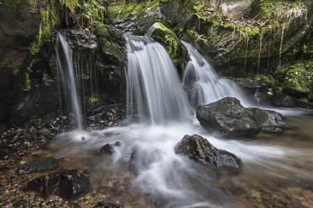black stones: Waterfall in Black Forest