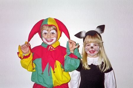 Clown with little cat.