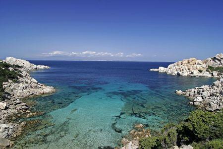 di: Capo Testa, Granite coast near Santa di Gallura, Sardinia. Stock Photo