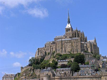 Le Mont-Saint-Michel, Monastery complex, Normandy, Northern France