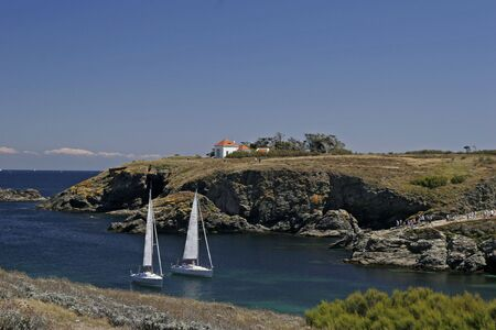 Sail boats, Brittany, Northern France