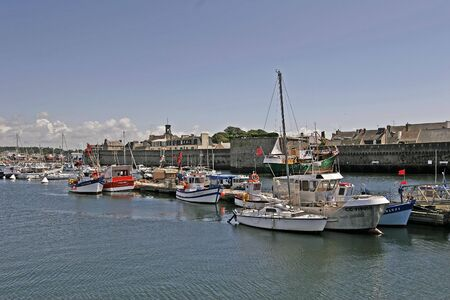 Concarneau, harbour in Brittany, Northern France