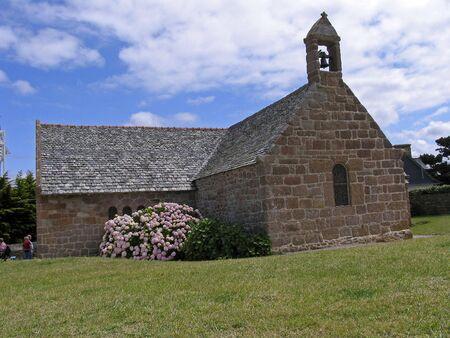 ploumanach: Little church in Ploumanach, Brittany, Northern France