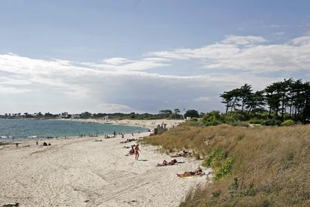 Sand beach, Larmor-Plage, Brittany, Northern France